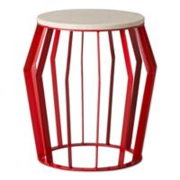 Emissary Billie 21-Inch x 22-Inch Metal Stool/Table in Red