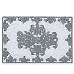 J. Queen New York™ Colette 30-Inch x 20-Inch Bath Rug in Silver