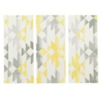 INK+IVY Sierra 3-Piece Canvas Wall Art in Yellow