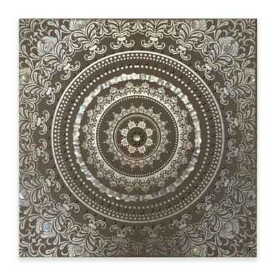 Embellished Linen Medallion Wall Art