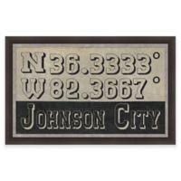 Johnson City, Tennessee Coordinates Framed Wall Art