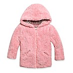 Urban Republic Woobie Size 4T Zip-Up Fuzzy Hooded Sleeveless Jacket in Pink