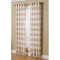 Arlen 95-Inch Grommet Top Semi-Sheer Window Curtain Panel