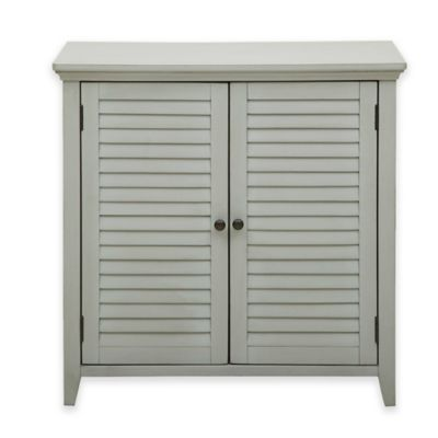 pulaski louvered bathroom storage cabinet in grey