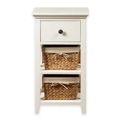 Pulaski Basket Bathroom Storage Cabinet In Linen White