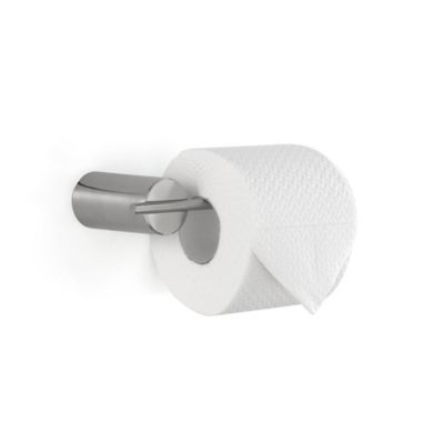 Duo Stainless Steel Toilet Paper Holder In Brushed Stainless Steel