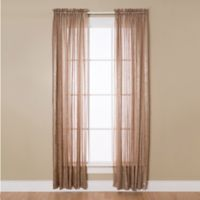 Aria 84-Inch Rod Pocket Sheer Window Curtain Panel in Taupe