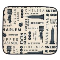 Schroeder & Tremayne The Original™ Dish Drying Mat with New York Print in Cream/Black