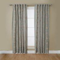 Camilla 63-Inch Rod Pocket/Back Tab Window Curtain Panel in Dusty Green