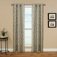 Enfield 84-Inch Grommet Top Window Curtain Panel in Onyx