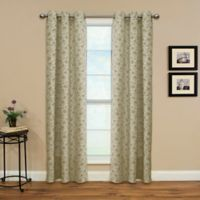 Enfield 84-Inch Grommet Top Window Curtain Panel in Sand