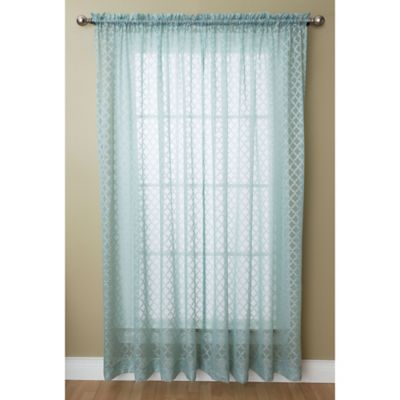 Buy Blue Sheer Curtain Panels from Bed Bath & Beyond
