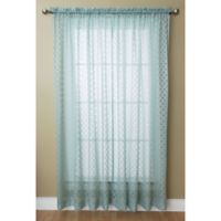 Glenbrook 84-Inch Rod Pocket Sheer Window Curtain Panel in Blue