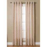 Kailey 95-Inch Grommet Top Window Curtain Panel in Gold