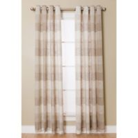 Niles 95-Inch Grommet Top Semi-Sheer Window Curtain Panel