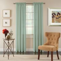 Pippa 84-Inch Rod Pocket Semi-Sheer Window Curtain Panel in Glacier