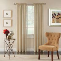 Pippa 84-Inch Rod Pocket Semi-Sheer Window Curtain Panel in Pearl