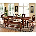 Forest Gate Wood 6-Piece Dining Set in Dark Oak