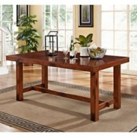 Walker Edison Dark Oak Wood Dining Table