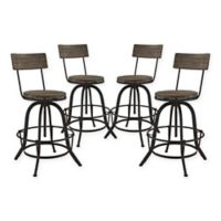 Modway Procure Bar Stool in Brown (Set of 4)