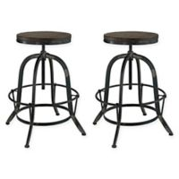 Modway Collect Barstools in Black (Set of 2)