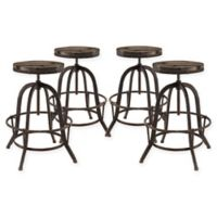 Modway Collect Bar Stool (Set of 4) in Brown