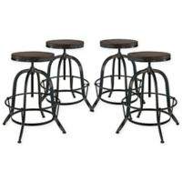Modway Collect Bar Stool (Set of 4) in Black