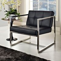 Modway Hover Lounge Chair in Black