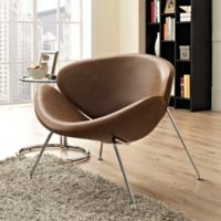 Modway Nutshell Chair in Brown
