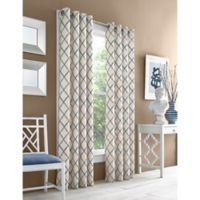 J. Queen New York™ Adorn 63-Inch Grommet Top Embroidered Window Curtain Panel in Blue