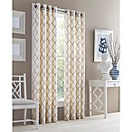 J. Queen New York™ Adorn 63-Inch Grommet Top Embroidered Window Curtain Panel in Gold