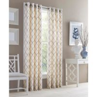 J. Queen New York™ Adorn 95-Inch Grommet Top Embroidered Window Curtain Panel in Gold