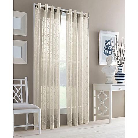 J Queen New York Adorn Grommet Top Sheer Window Curtain Panel Bed Bath Beyond