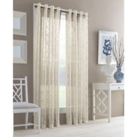 J. Queen New York™ Adorn 84-Inch Grommet Top Sheer Window Curtain Panel in Natural