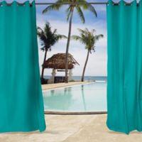 Sunbrella® Canvas 84-Inch Grommet Top Indoor/Outdoor Curtain Panel in Aruba Blue