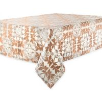 Waterford® Linens Octavia 70-Inch x 84-Inch Oblong Tablecloth in Bronze