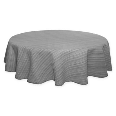 Terra Woven Lyon 70 Inch Round Tablecloth In Grey