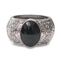 Melissa 7.25-Inch Activity Tracker Bracelet in Black Stone