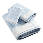 Anthony  Fingertip Towel in Blue