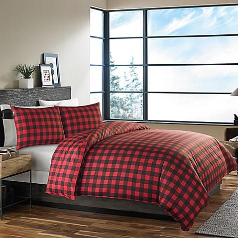 Eddie Bauer Mountain Plaid Duvet Cover Set In Red Bed Bath Beyond