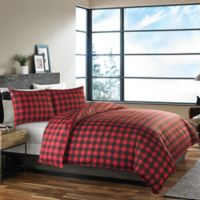 Eddie Bauer® Mountain Plaid Twin Duvet Cover Set in Red