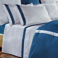 Frette at Home Arno Queen Sheet Set in Ocean/White