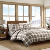 Eddie Bauer® Edgewood Plaid King Duvet Set in Khaki