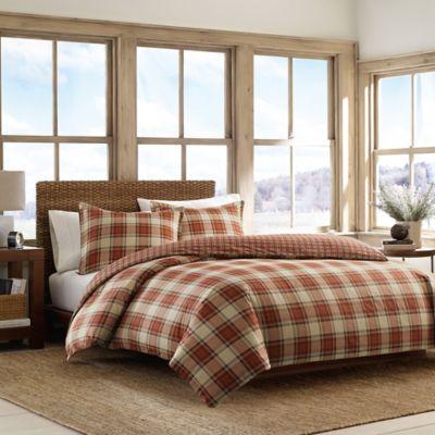 Ed Bauer Edgewood Plaid Full Queen Comforter Set In Red