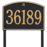 Whitehall Products Cape Charles Personalized Address Plaque in Black/Gold
