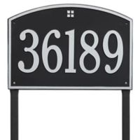 Whitehall Products Cape Charles Personalized Address Plaque in Black/Silver