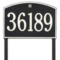 Whitehall Products Cape Charles Personalized Address Plaque in Black/White