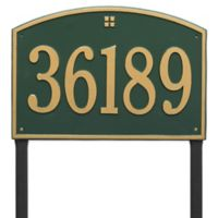Whitehall Products Cape Charles Personalized Address Plaque in Green/Gold