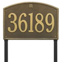 Whitehall Products Cape Charles Personalized Address Plaque in Antique Brass