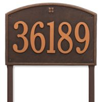 Whitehall Products Cape Charles Personalized Address Plaque in Oil Rubbed Bronze